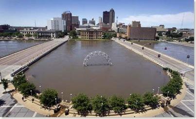 Embassy Suites view - east side of river (Source - Des Moines Register)