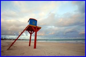Lifeguard stand on a beach