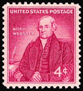 Noah Webster on a Four-Cent Postage Stamp