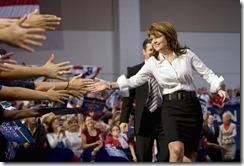 Sarah Palin gladhanding in Virginia