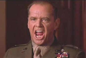 """A Picture From the Movie """"A Few Good Men"""" of Colonel Jessup"""