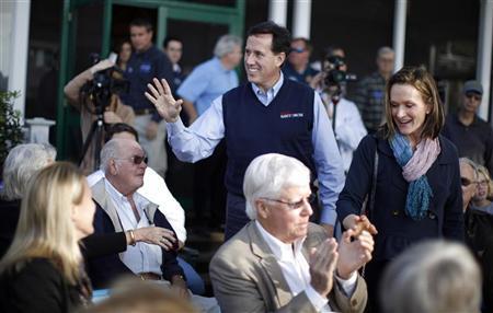 Rick and Karen Santorum greeting voters in South Carolina