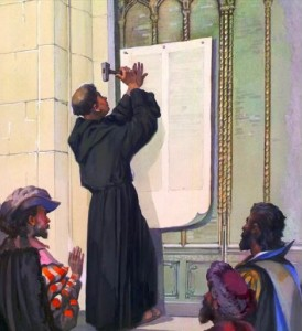 Luther Posting the 95 Theses