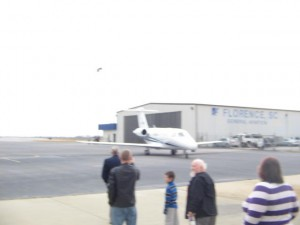 Ron Paul Arriving at the Florence, SC Airport