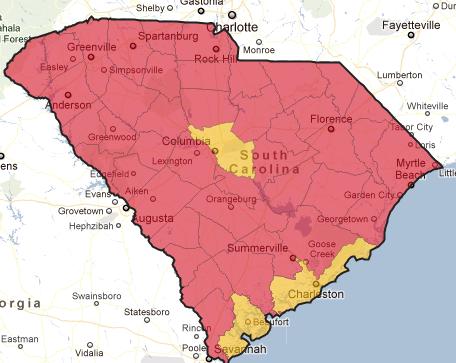 South Carolina Primary Map