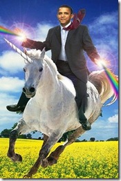 Obama in the land of Unicorns and Wealth Redistribution.