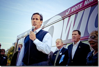 Rick Santorum at No Wiggins Tour Des Moines Stop