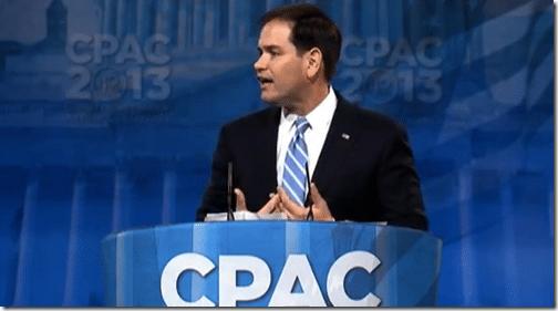 Senator Marco Rubio (R-FL) speaking at CPAC 2013