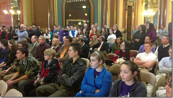 school choice rally at Iowa State Capitol
