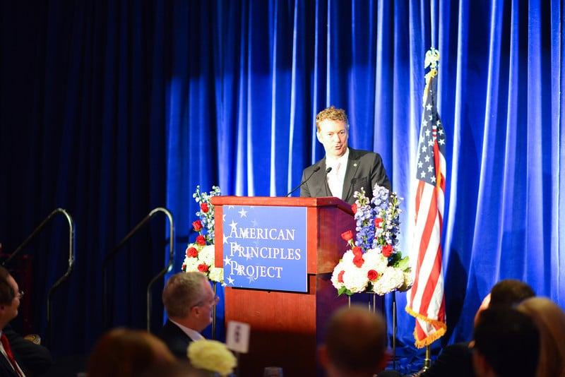 Senator Rand Paul (R-KY) keynoted the American Principles Project's Red, White & Blue Gala on 2/5/14 in Washington, DC.