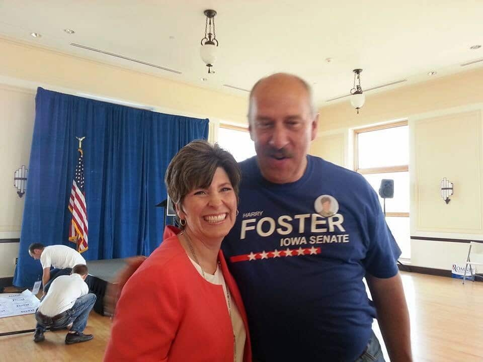 Harry Foster with U.S. Senate candidate Joni Ernst
