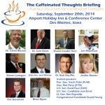 Jan Mickelson, Steven Lonegan Join Caffeinated Thoughts Briefing Line-Up