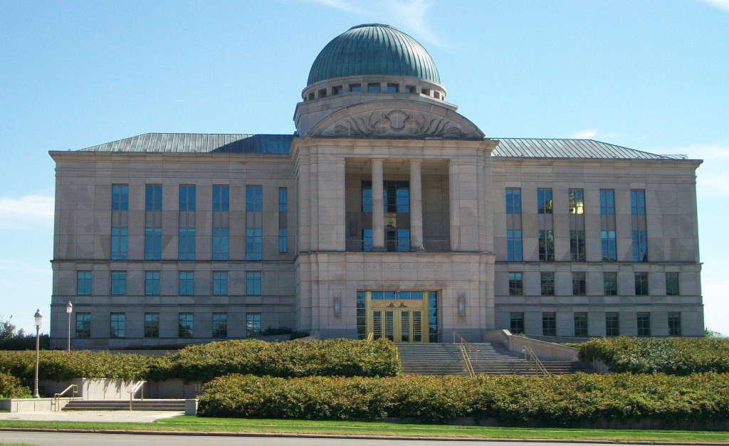Iowa Supreme Court Building Photo credit: Ctjf83 via Wikimedia Commons (CC-By-SA 3.0)