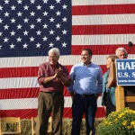Jack Hatch (left) stands next to Bruce Braley at the Harkin Steak Fry Photo credit: Dave Davidson - Prezography.com