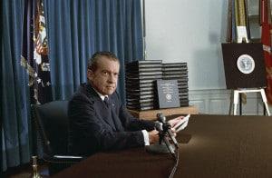 President Richard Nixon on 4/29/74.