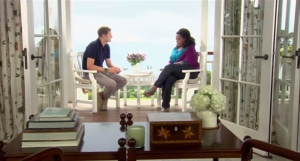 "Rob Bell and Oprah Winfrey on ""Super Soul Sunday."""
