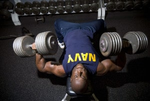 Spiritual discipline, like weight training, is hard work. It is work we can't do by ourselves however. Photo source: U.S. Navy (Public Domain)