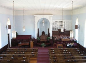 The interior of Dexter Ave. Baptist Church Photo credit: Ron Zoni (CC-By-SA 3.0)