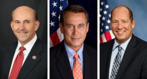From left: Louie Gohmert, John Boehner, & Ted Yoho