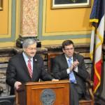 Iowa Gov. Terry Branstad and House Speaker Kraig Paulsen (R-Hiawatha) Photo source: Governor Branstad's Office