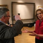 Shane talks to Carly Fiorina at the Iowa Freedom Summit. Photo credit: Dave Davidson - Prezography.com