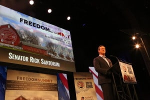 Rick Santorum at the Iowa Freedom Summit Photo credit: Dave Davidson - Prezography.com