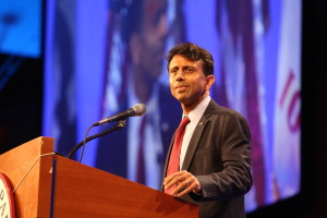 Gov. Bobby Jindal (R-LA) at Iowa GOP Lincoln Dinner<br>Photo credit: Dave Davidson - Prezography.com