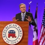 Jeb Bush at the Iowa GOP's Lincoln Dinner.Photo credit: Dave Davidson - Prezography.com