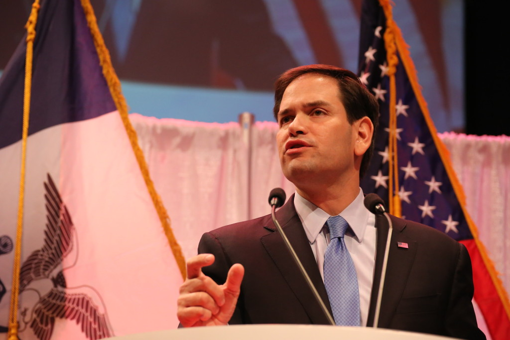 Rubio at Iowa Faith & Freedom 2015 Spring event.Photo credit: Dave Davidson - Prezography.com