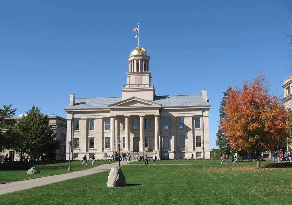 Iowa's Old Capitol Building on the University of Iowa campus.Photo Credit: Bill Whitaker (CC-By-SA 3.0)