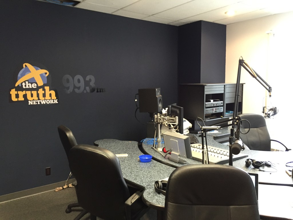 The Caffeinated Thoughts Radio Studio at the Truth Network 99.3 FM.