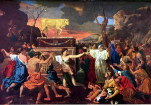 """GoldCalf"" by Nicolas Poussin"