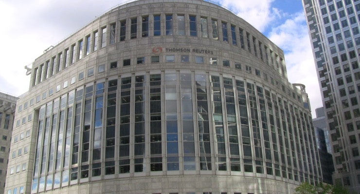 Thomson Reuters Building in LondonPhoto credit: Reuben Thomas George (CC-By-SA 3.0)