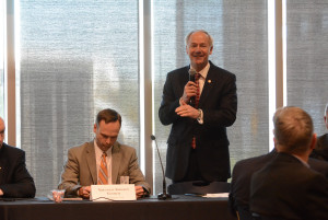 Arkansas Governor Asa Hutchinson speaks to his Advisory cCouncil on Medicaid Reform