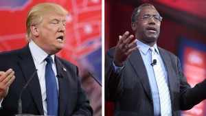 The Iowa frontrunners: #1 Trump & #2 CarsonPhoto credit: Gage Skidmore (CC-By-SA 2.0)