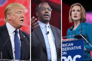 Trump, Carson & Fiorina at CPAC 2015Photo credit: Gage Skidmore