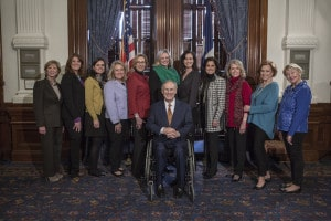 Texas Gov. Greg Abbott with Texas Alliance for Life
