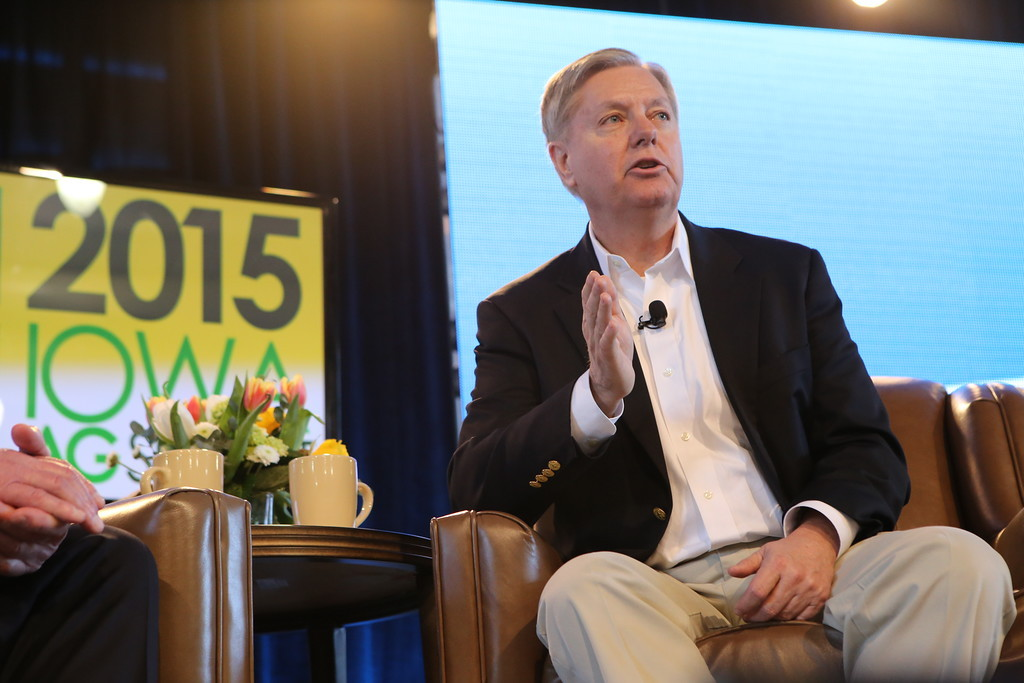 U.S. Senator Lindsey Graham (R-SC) at the Iowa Agricultural Summit. Photo credit: Dave Davidson (Prezography.com)