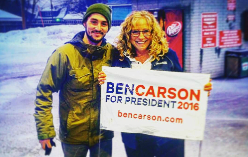 Braden Joplin (left), a volunteer for Ben Carson, was 25-years-old.