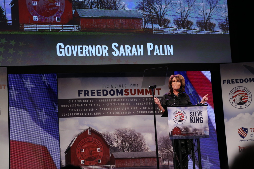 Sarah Palin at Congressman Steve King's Iowa Freedom Summit. Photo credit: Dave Davidson (Prezography.com)