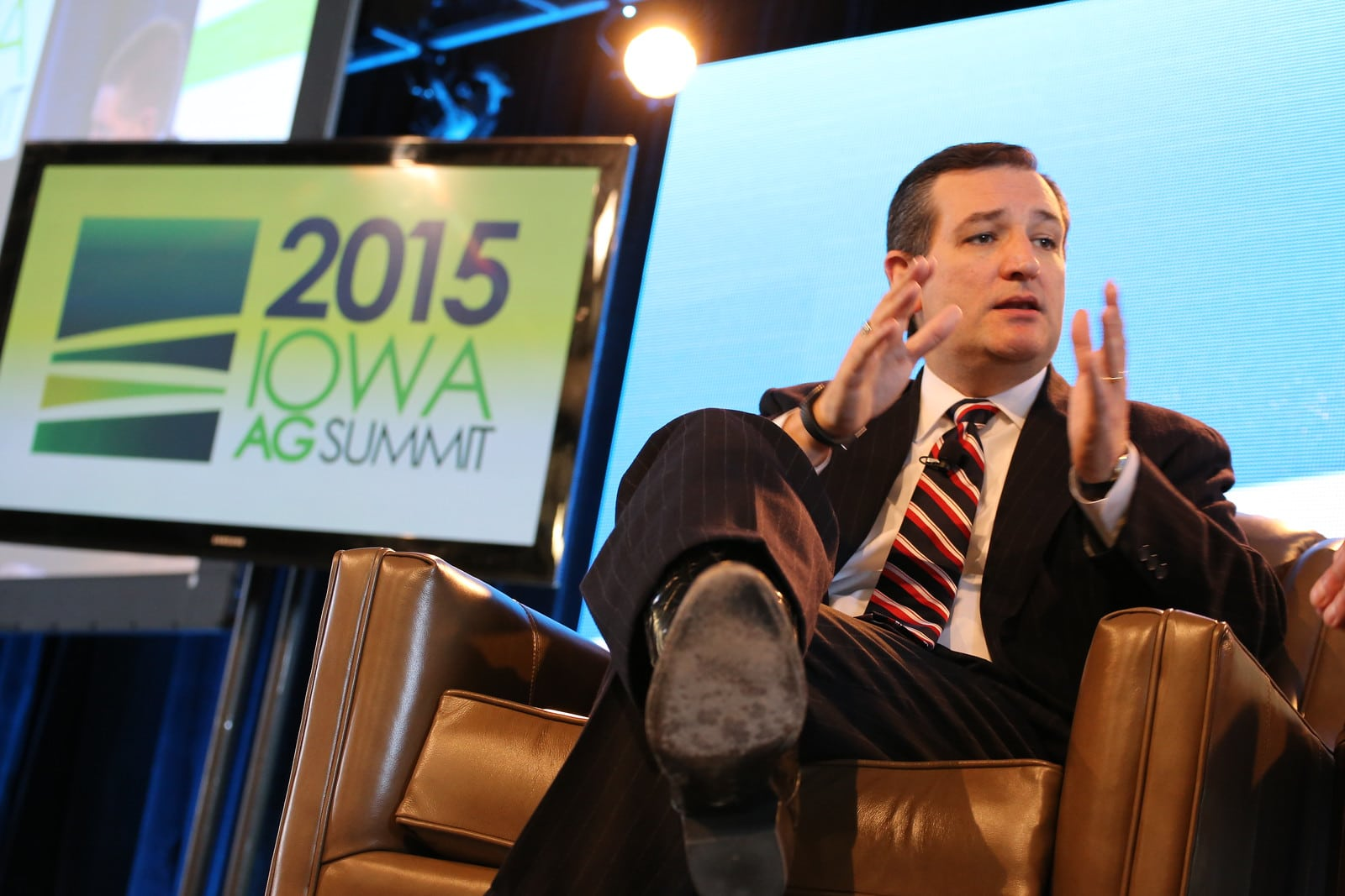 U.S. Senator Ted Cruz (R-TX) at the 2015 Iowa Ag Summit in Des Moines. Photo credit: Dave Davidson (Prezography.com)