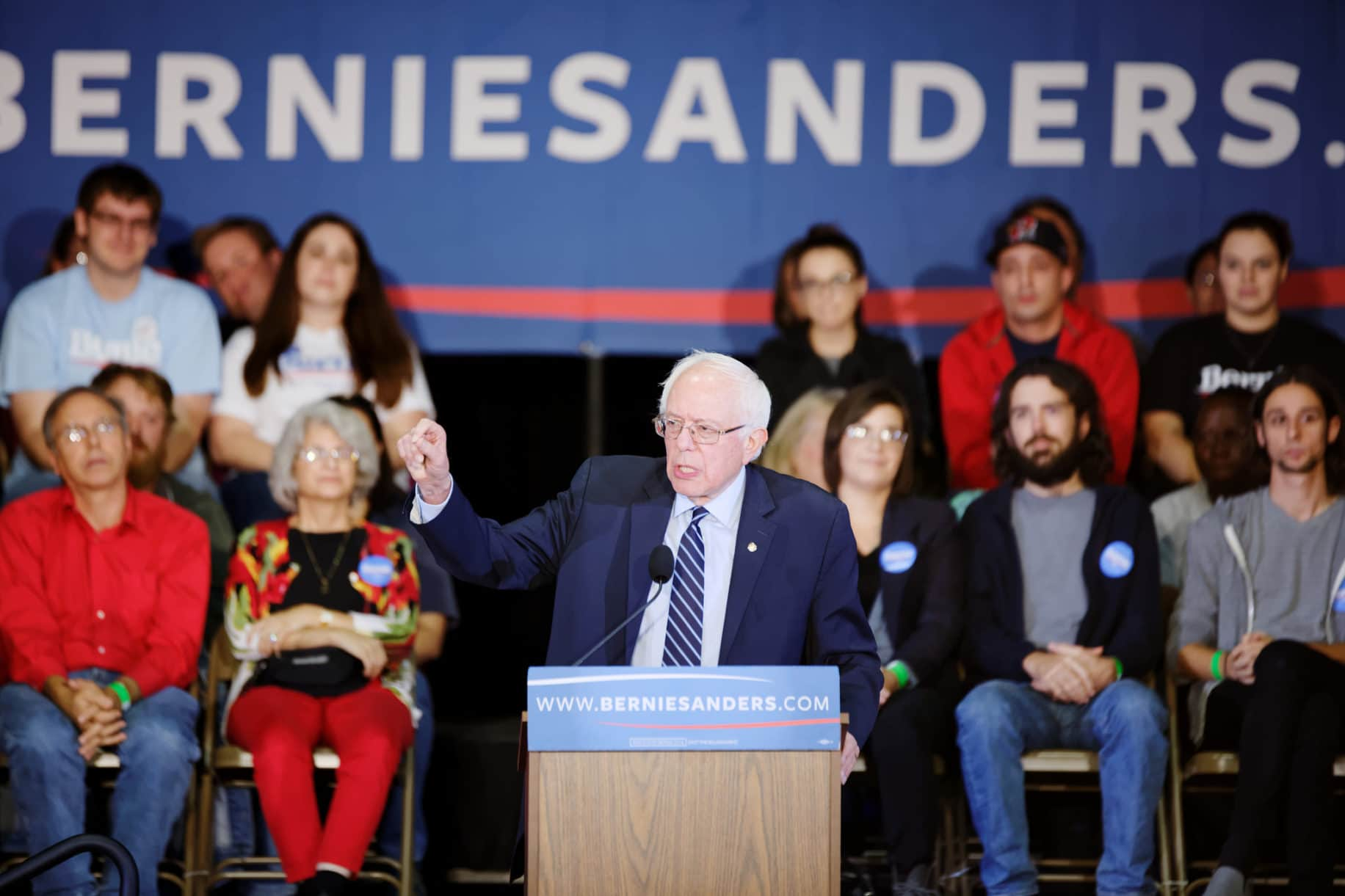 U.S. Senator Bernie Sanders (D-VT) at a town hall in Derry, NH on 10/30/15. Photo credit: Michael Vadon