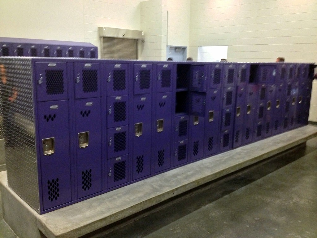 Locker room in Garfield High School in Seattle, WA. Photo credit: Joe Wolf (CC-By-ND 2.0)