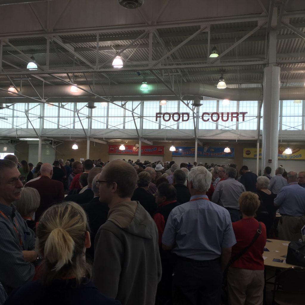 The lunch line.