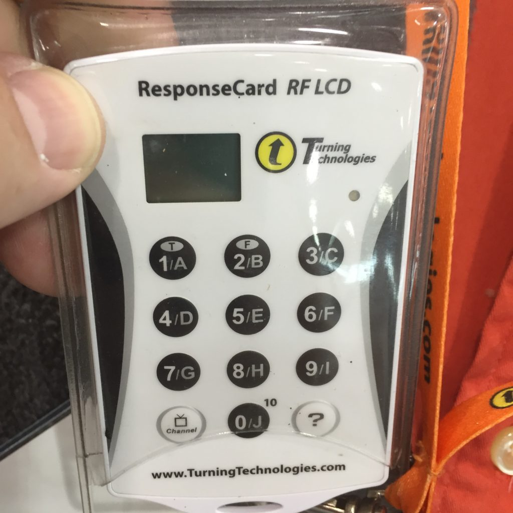 This is the electronic voting device delegates were given.
