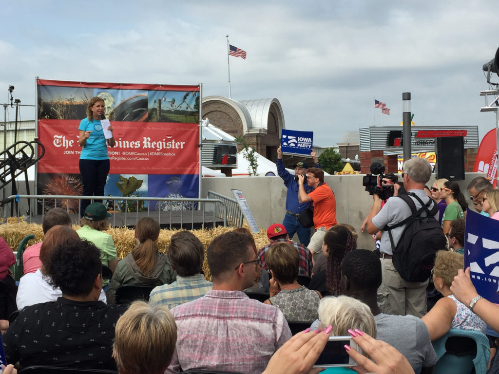 Debbie Wasserman Schultz, Chairwoman of the Democratic National Committee, at the Iowa State Fair