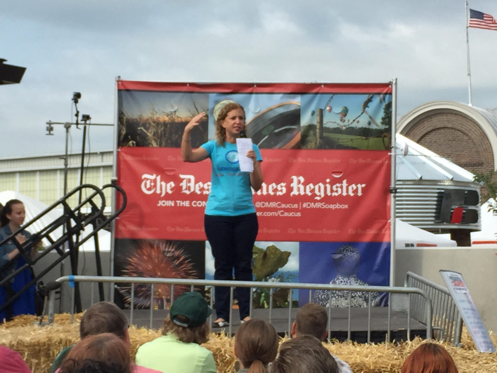 Debbie Wasserman-Schultz at the 2015 Iowa State Fair.