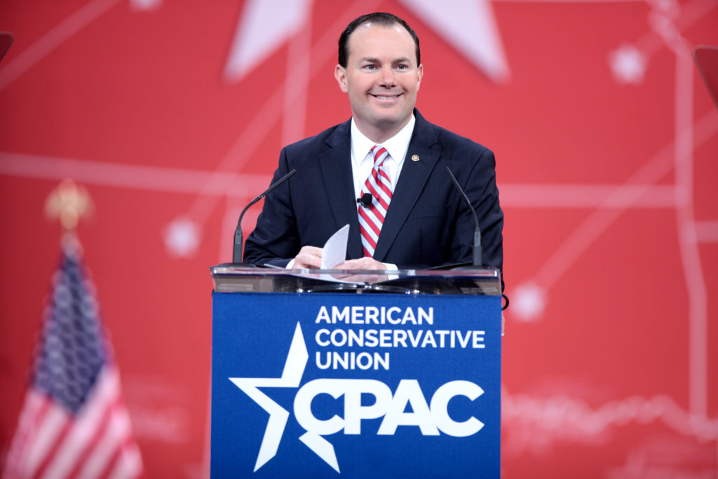 U.S. Senator Mike Lee (R-CT) speaking at CPAC 2015Photo credit: Gage Skidmore