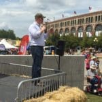 Jim Mowrer Dodges Caffeinated Thoughts Question at Iowa State Fair