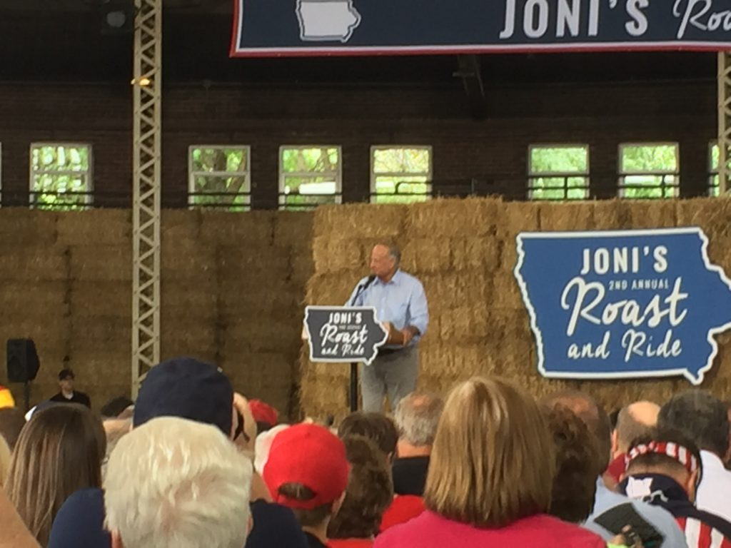 Congressman Steve King (R-Iowa) at 2nd Annual Roast and Ride.